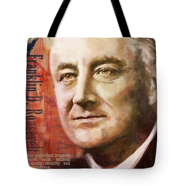 Franklin D. Roosevelt Tote Bag by Corporate Art Task Force