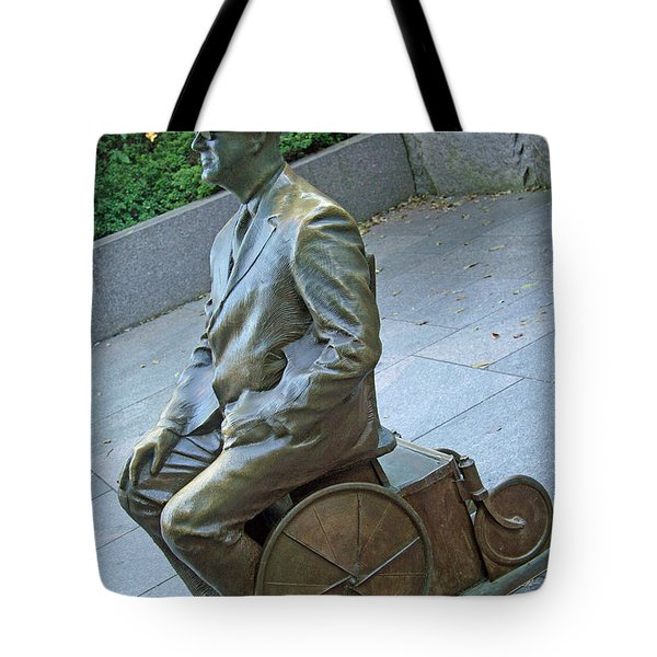 Franklin Delano Roosevelt In A Wheelchair Tote Bag by Cora Wandel