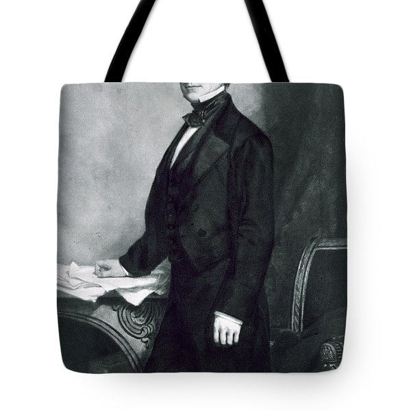 Franklin Pierce Tote Bag by George Healy