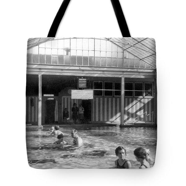 Franklin Roosevelt In Pool Tote Bag