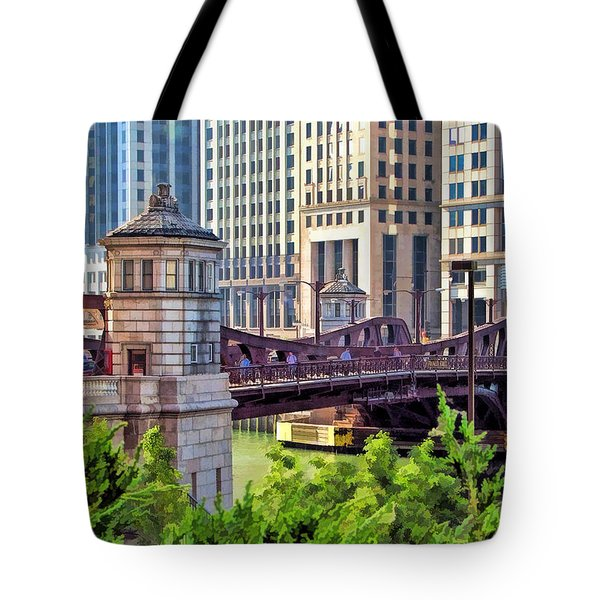 Chicago Franklin Street Bridge Tote Bag