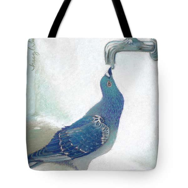 Frank's Pigeon Tote Bag by Tracy L Teeter