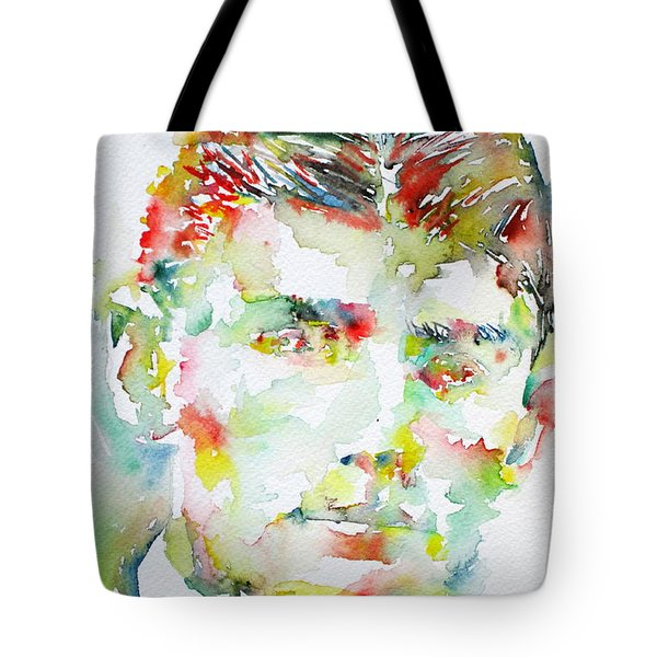 Franz Kafka Watercolor Portrait.2 Tote Bag by Fabrizio Cassetta