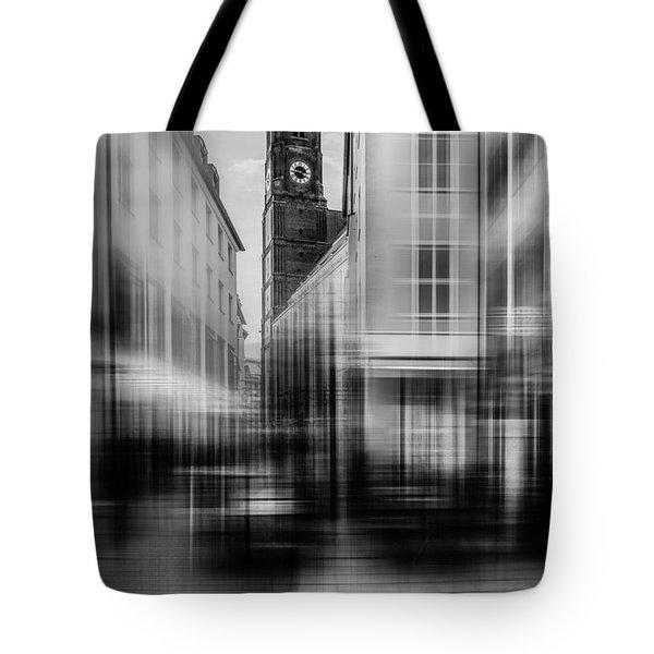 Frauenkirche - Muenchen V - Bw Tote Bag