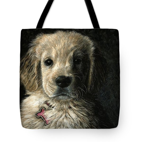 Tote Bag featuring the drawing Freckles by Sandra LaFaut