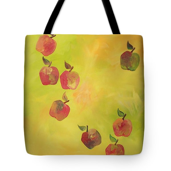 Tote Bag featuring the painting Free Apples by PainterArtist FIN