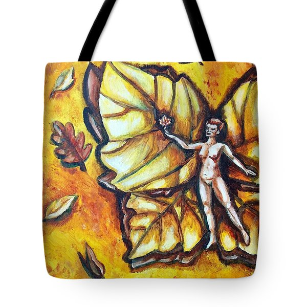 Free As Autumn Leaves Tote Bag by Shana Rowe Jackson