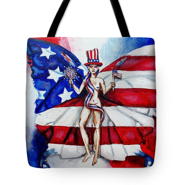 Free As Independence Day Tote Bag by Shana Rowe Jackson