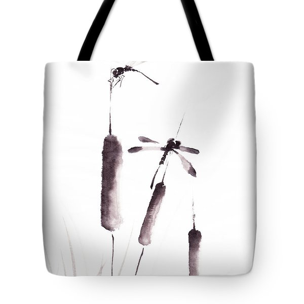Free As The Dragonflies Tote Bag