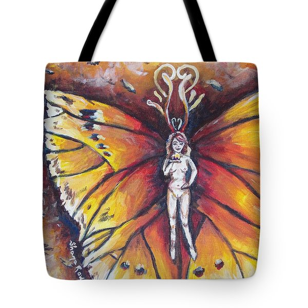 Free As The Flame Tote Bag by Shana Rowe Jackson