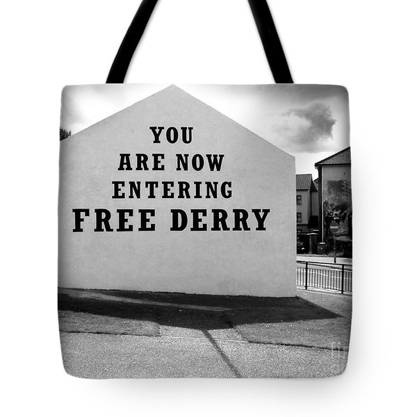 Tote Bag featuring the photograph Free Derry Corner by Nina Ficur Feenan