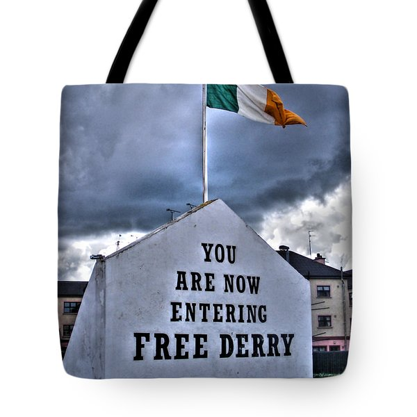 Free Derry Wall Tote Bag