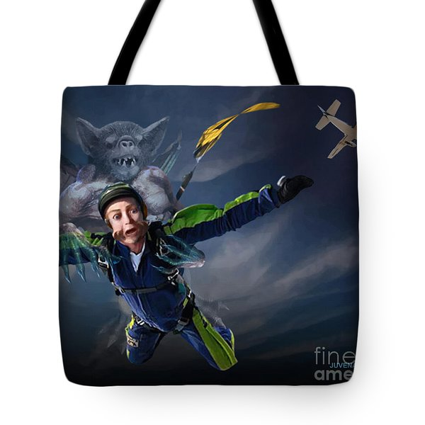 Free Fall Into Darkness Tote Bag by Joseph Juvenal