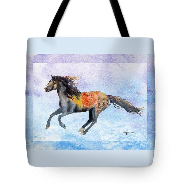 Da114 Free Gallop By Daniel Adams Tote Bag