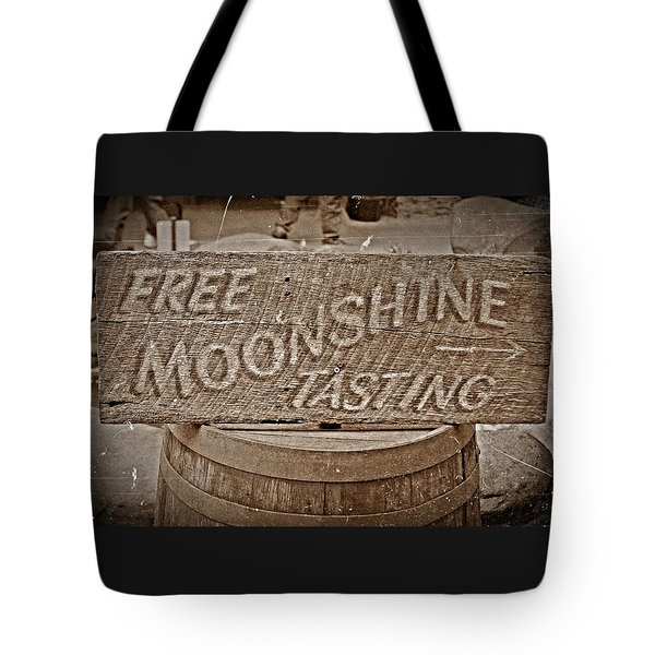Free Moonshine Tote Bag
