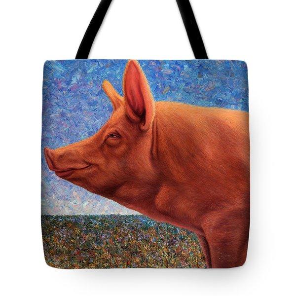 Free Range Pig Tote Bag
