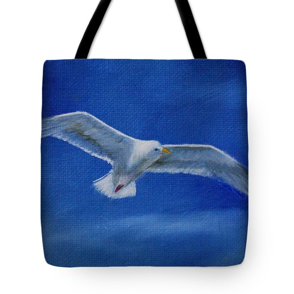 Tote Bag featuring the painting Free Spirit 2 by Lynn Hughes