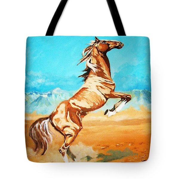 Tote Bag featuring the painting Free Spirit by Al Brown