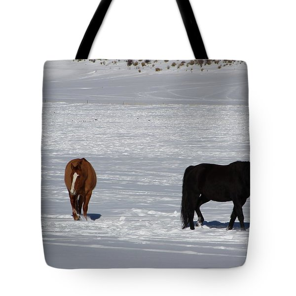 Tote Bag featuring the photograph Free Spirits by Fiona Kennard
