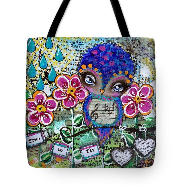 Free To Fly Tote Bag by Lizzy Love of Oddball Art Co