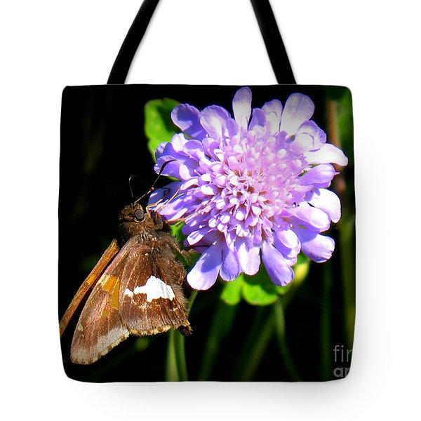 Silver Spotted Skipper Tote Bag by Patti Whitten