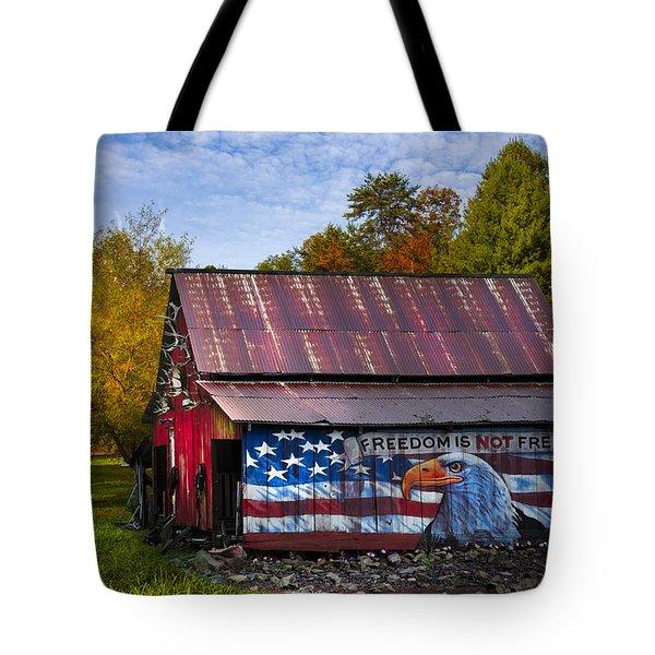 Freedom Is Not Free Tote Bag by Debra and Dave Vanderlaan