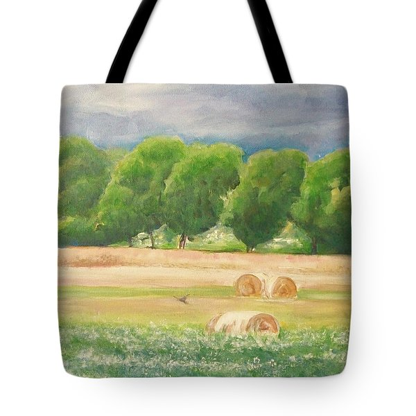 Tote Bag featuring the painting Freedom by Jane  See