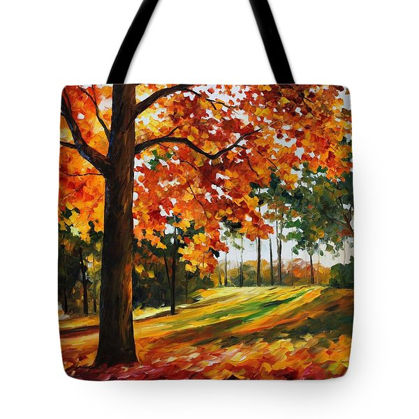 Freedom Of Autumn - Palette Knife Oil Painting On Canvas By Leonid Afremov Tote Bag