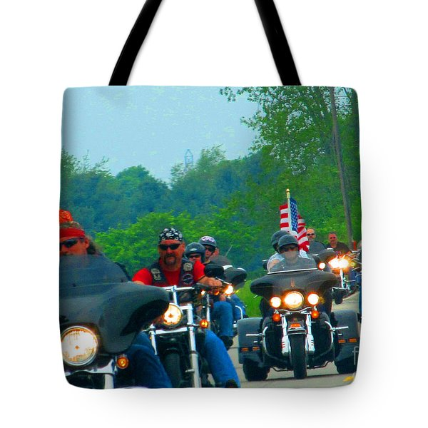 Freedom Riders Having So Much Fun Tote Bag by Tina M Wenger