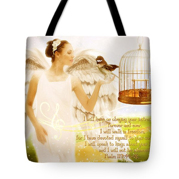 Freedom Song With Scripture Tote Bag