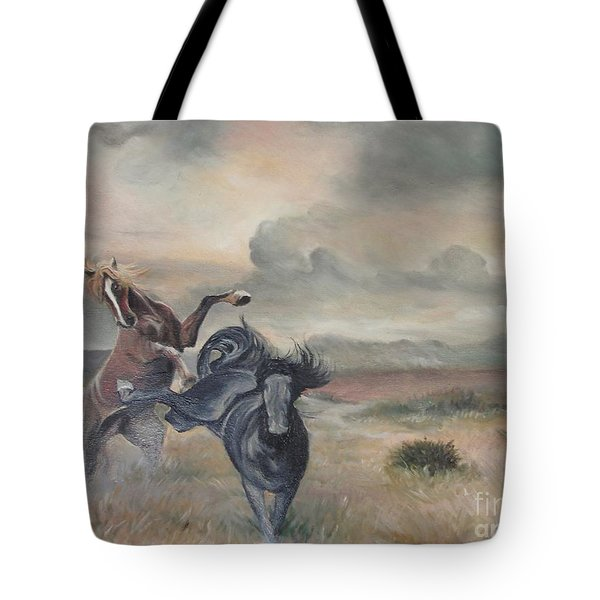 Tote Bag featuring the painting Freedom by Sorin Apostolescu