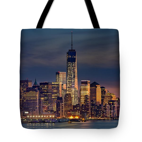 Freedom Tower Construction End Of 2013 Tote Bag by Jerry Fornarotto