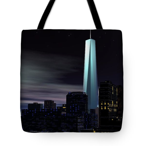Freedom Tower Tote Bag by John Pangia