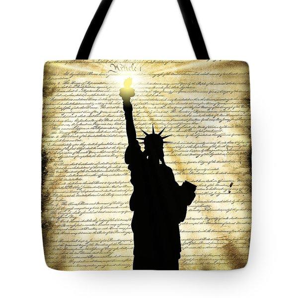 Freedoms Light Tote Bag by Daniel Hagerman
