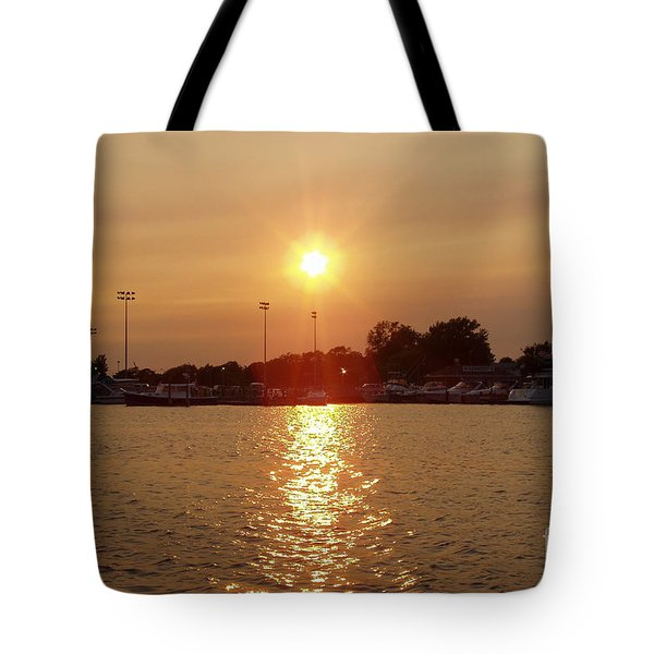 Tote Bag featuring the photograph Freeport Summer Sunset by John Telfer