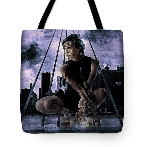 Tote Bag featuring the digital art Freerunning Nyc by Galen Valle