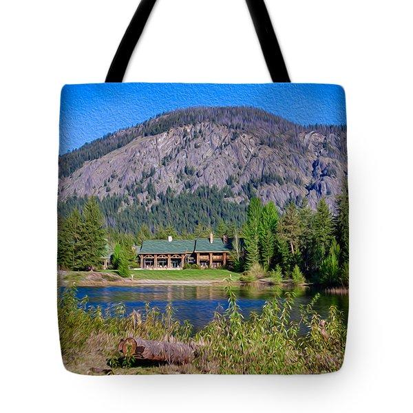Freestone Inn Lakeside View Tote Bag by Omaste Witkowski
