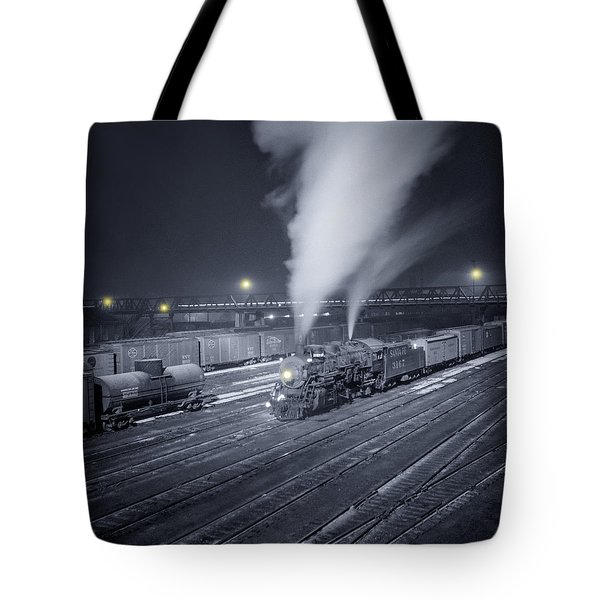 Freight Train About To Leave The Atchison Circa 1943 Tote Bag