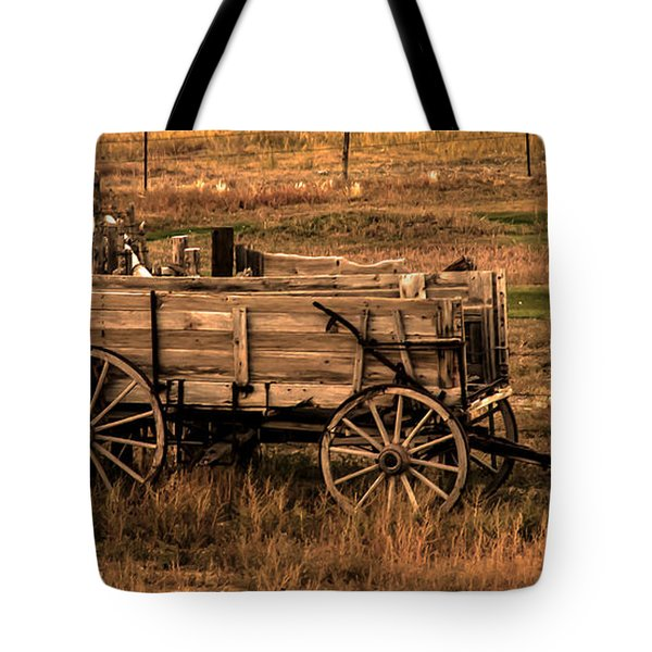 Freight Wagon Tote Bag by Robert Bales