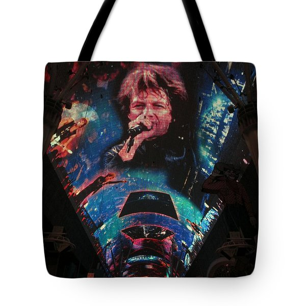 Fremont Street Experience Tote Bag by Kay Novy