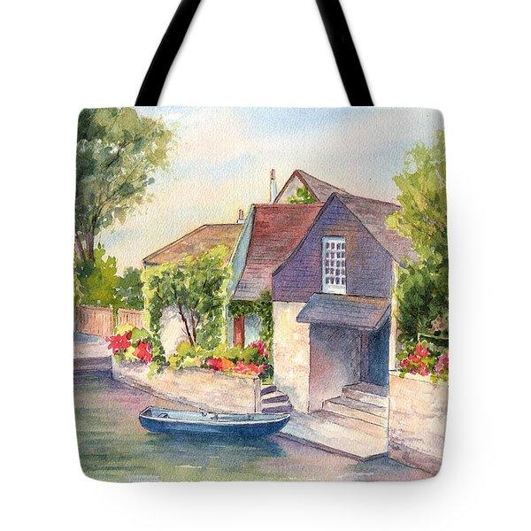 French Boathouse  Azay Le Rideau Tote Bag