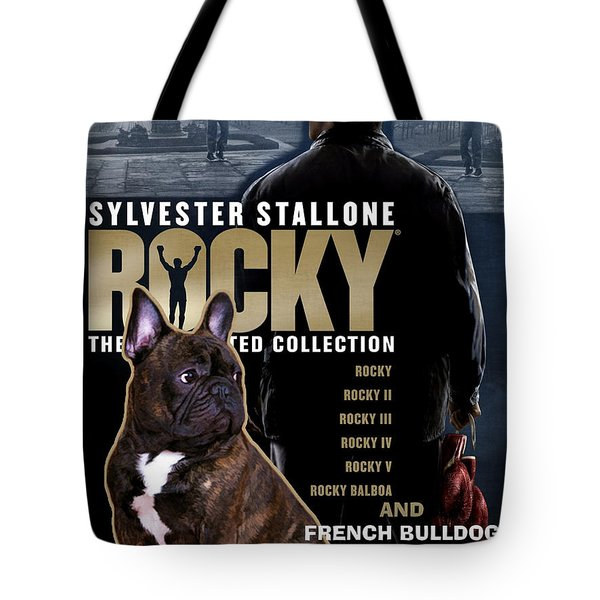 French Bulldog Art - Rocky Movie Poster Tote Bag