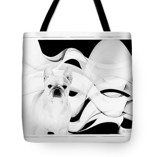 Tote Bag featuring the painting French Bulldog by Barbara Chichester