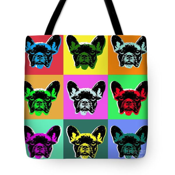 French Bulldog Tote Bag by Jean luc Comperat