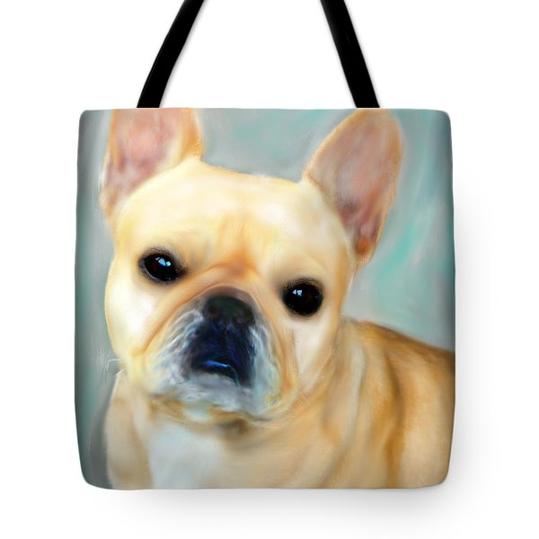 French Bulldog Mystique D'or Tote Bag by Barbara Chichester