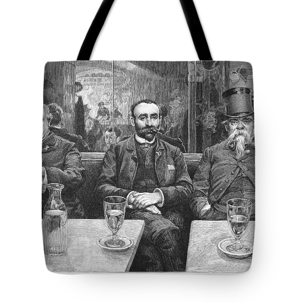French CafÉ, 19th Century Tote Bag by Granger