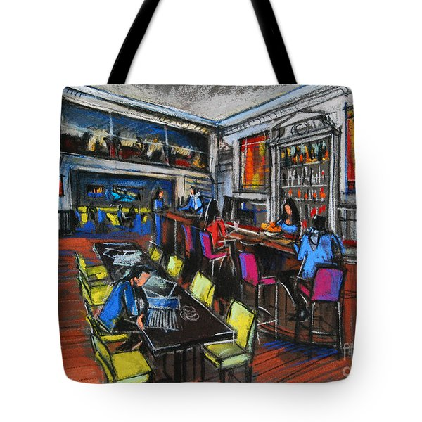 French Cafe Interior Tote Bag