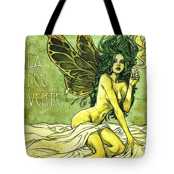 French Cafe Poster C1885 Tote Bag by Padre Art