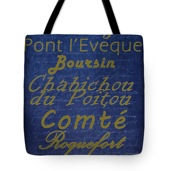 French Cheeses - 2 Tote Bag by Paulette B Wright