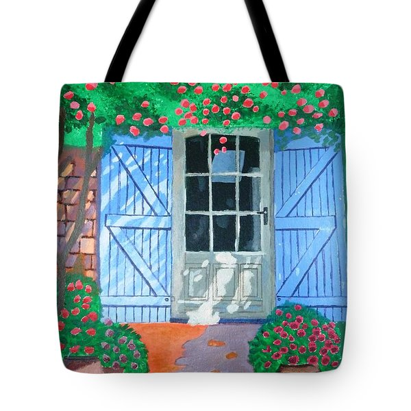 Tote Bag featuring the painting French Farm Yard by Magdalena Frohnsdorff
